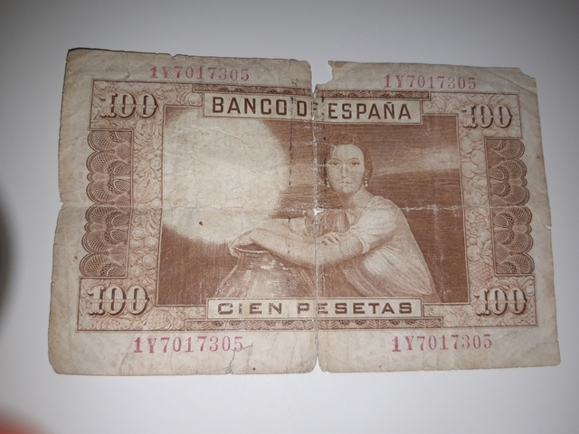Billete Original De 100 Pesetas Año 1953