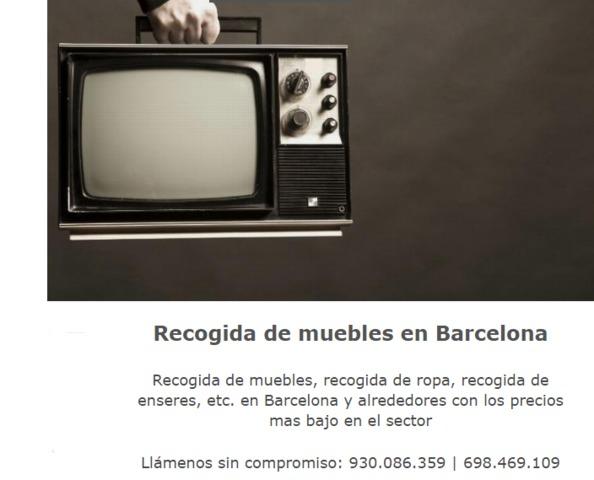 Recogida de muebles en barcelona