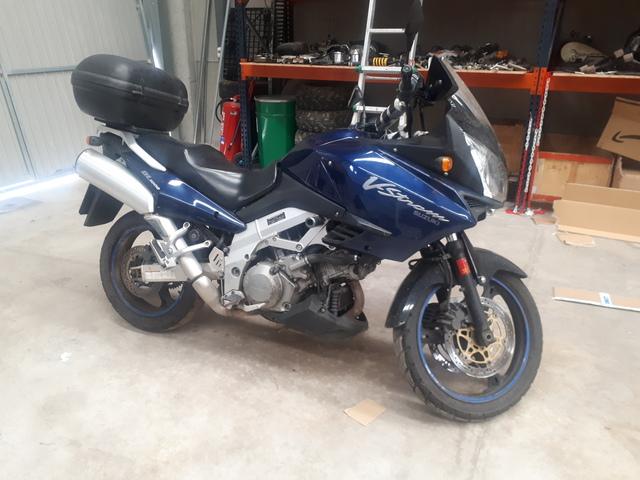 Funda de Asiento para Suzuki V-Strom DL650 04-11 Negro-Azul