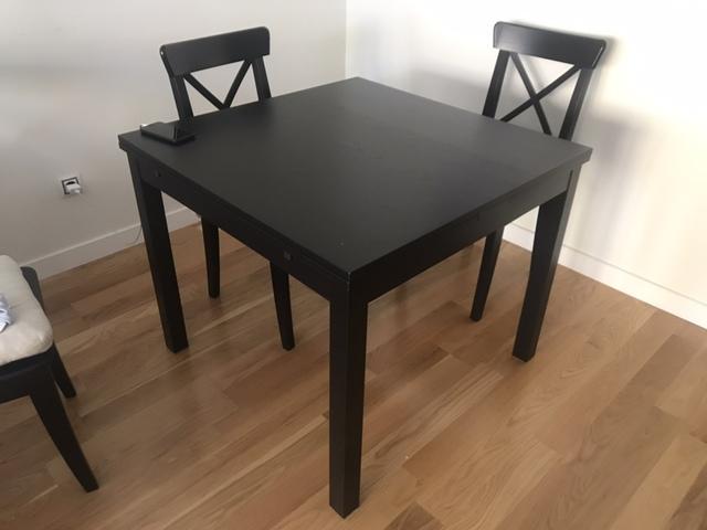 MESA COMEDOR EXTENSIBLE 90X90 IKEA
