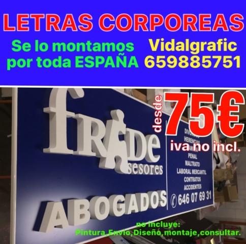 RÓTULOS, CORPOREOS, LETRAS PVC DESDE 4 EUR - foto 5