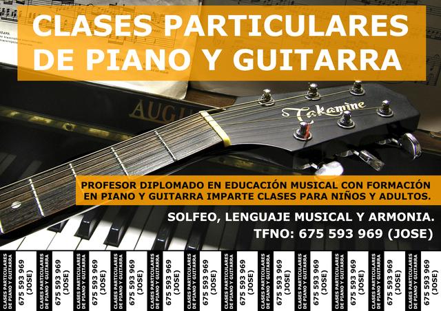 CLASES PARTICULARES DE PIANO Y GUITARRA - foto 1
