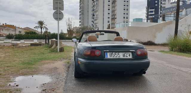 Cubierta de asiento B forrada negro para mazda mx-5 1 na roadster cabriolet 2-puertas