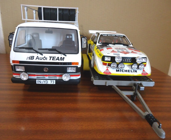 Rally Set Audi Team Portugal 1:18