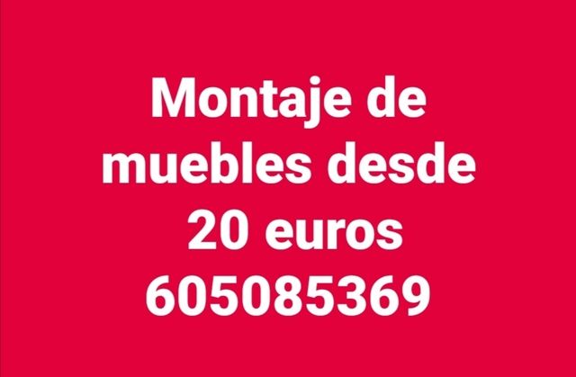 MONTAJE DE MUEBLES 20 EUROS - foto 1