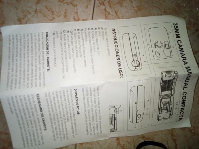 CÁMARA MANUAL COMPACTA - foto 1