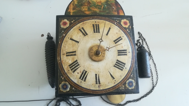 "Reloj De Pared ""Ratonero\"" Antiguo"