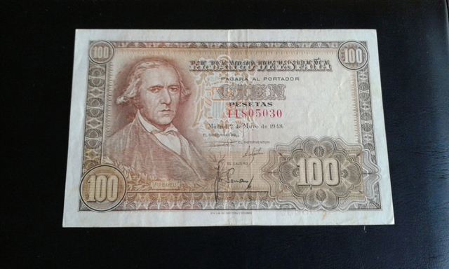 Billete 100 Pesetas Año 1948.Ultima Seri