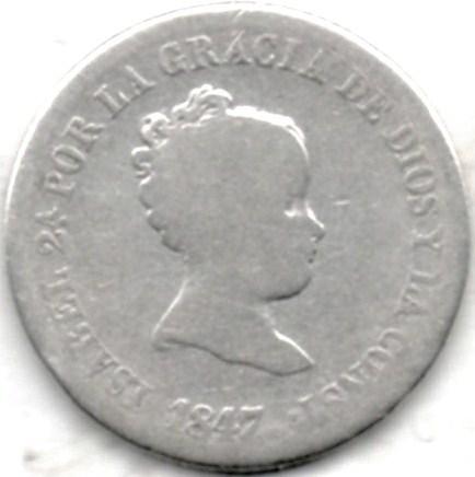 2 Reales Plata De Isabel Ii Autenticos