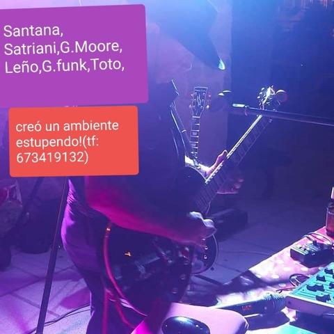 GUITARRISTA CON EQUIPO DE LUZ Y SONIDO - foto 1