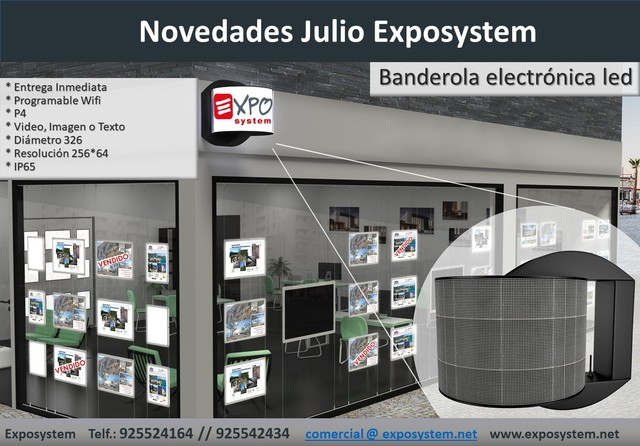BANDEROLA ELECTRONICA GIRATORIA LED - foto 1