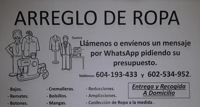 ARREGLO DE ROPA CLOTHES ARRANGEMENT - foto 1