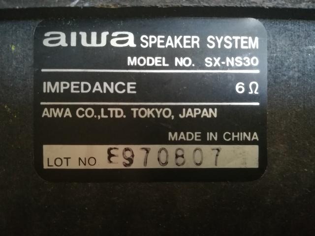 ALTAVOCES AIWA SX-NS30 BASS REFLEX DE 3 - foto 3
