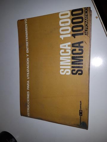 MANUAL USUARIO SIMCA 1000 - foto 1