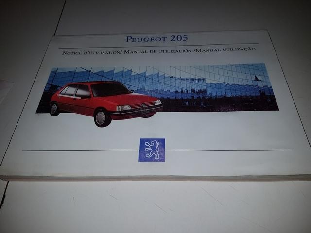 MANUAL USUARIO PEUGEOT 205 - foto 1