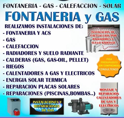 FONTANERÍA-GAS-CALEFACCIÓN MUY ECONÓMICO - foto 1