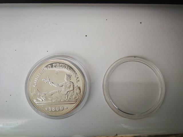 Moneda De Plata De Una Peseta De 1869