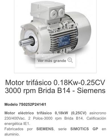 Motor Siemens Trifásico
