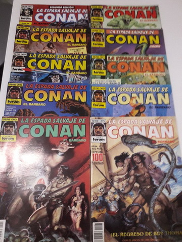 10 COMICS CONAN AÑOS 80 - foto 1
