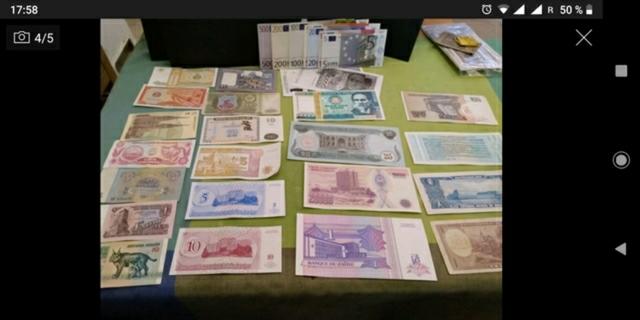 Lote De Monedas Y Billetes
