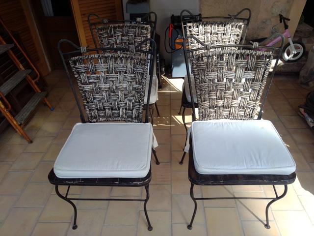 sillas de comedor de forja en palma de mallorca