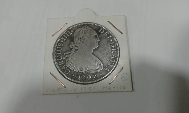 Moneda 8 Reales Carlos 4 Año 1797
