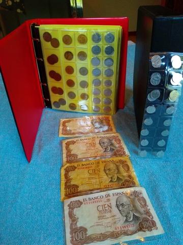 Colección Monedas Y Billetes Con Álbum