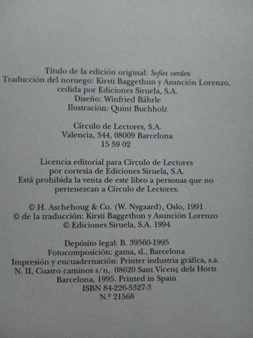 EL MUNDO DE SOFIA - foto 2