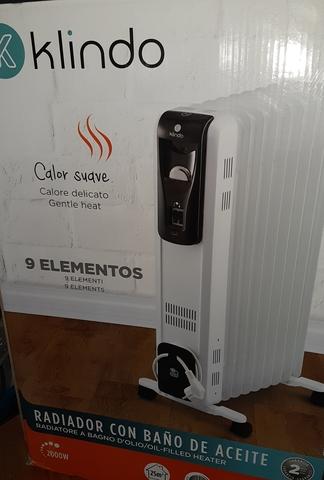 radiador de aceite en el baño