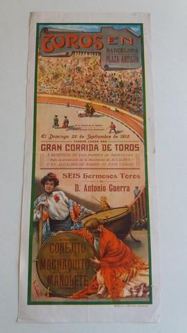 CARTEL DE TOROS:  CONEJITO,  MACHAQUITO. . .  - foto 1