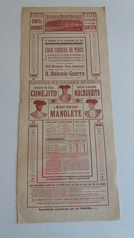 CARTEL DE TOROS:  CONEJITO,  MACHAQUITO. . .  - foto 2