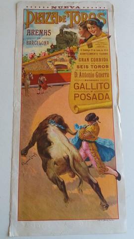 CARTEL TAURINO :  GALLITO Y POSADA - foto 1