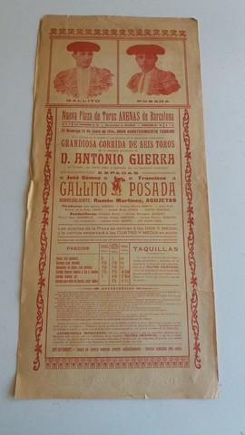 CARTEL TAURINO :  GALLITO Y POSADA - foto 2