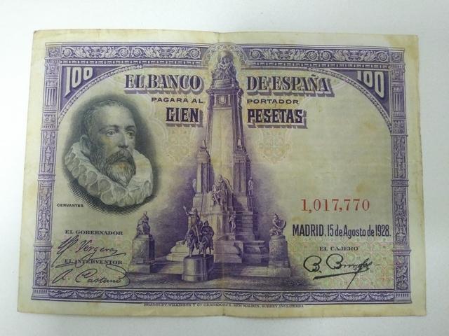 Billete 100 Pesetas 1928 Cervantes