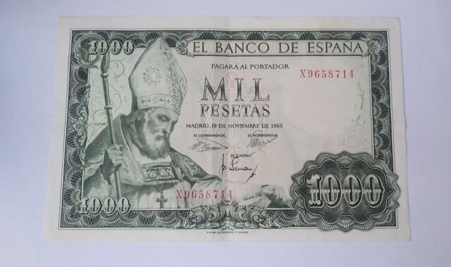 Billete 1000 Pesetas 1965 San Isidoro
