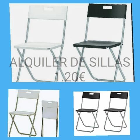las palmas sillas plegables de metal
