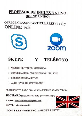 CLASES ONLINE SKYPE.  PROF.  NATIVO INGLÉS - foto 1