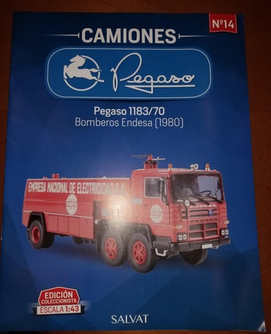 Camión pegaso 1183//70 BOMBEROS ENDESA MATRíCULA DE LEóN 1980 Esc 1//43 Ref 14