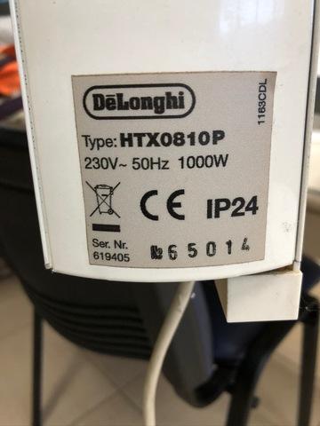 Emisor Termico Delonghi Htx0810p 1000w
