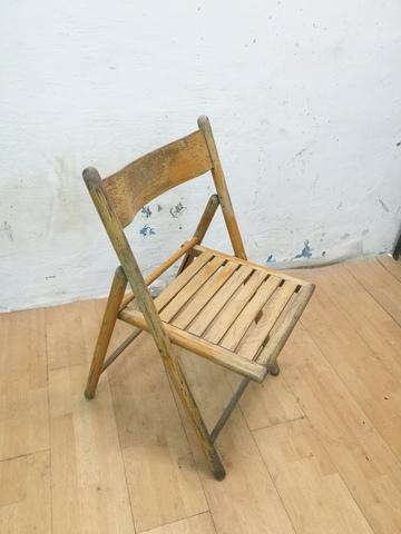 silla plegable tapizado de madera para 120kg