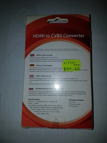 CONVERSOR HDMI-CVBS TELEVISORES ANTIGUOS - foto 3