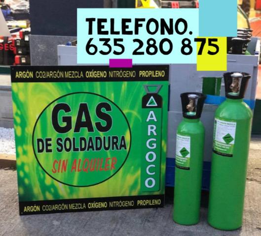 Bombona Gas Soldadura Mig - Sin Contrato