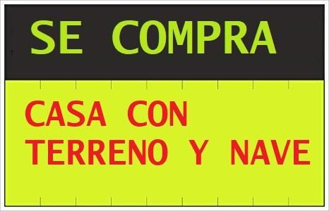 COMPRO CASA CON NAVE Y TERRENO VALLADO - foto 1