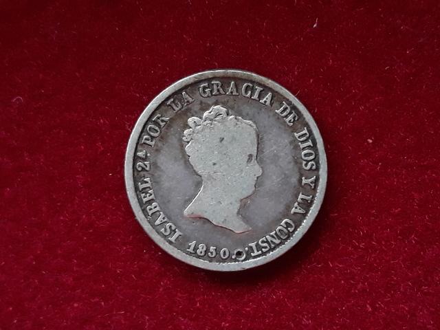 2 Reales Plata 1850