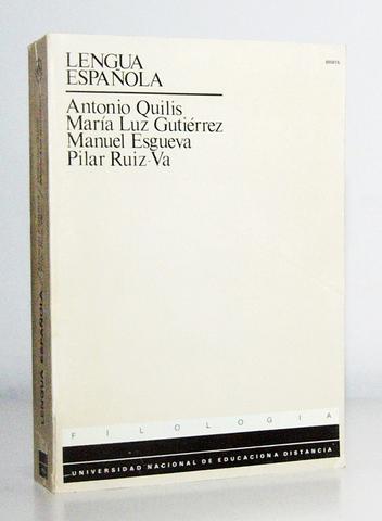 LIBRO LENGUA ESPAÑOLA,  DE ANTONIO QUILIS - foto 1