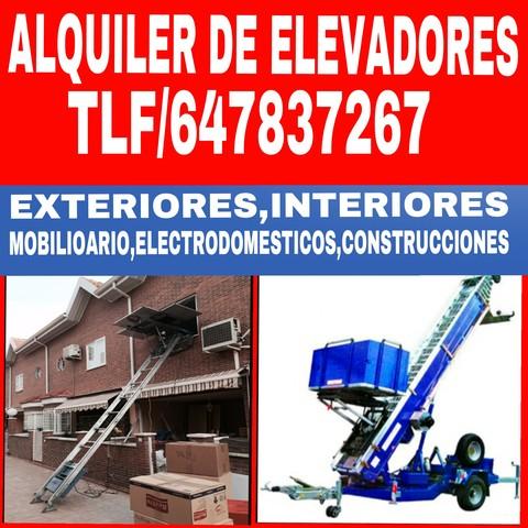 ALQUILER DE ELEVADORES MONTAMUEBLES - foto 1