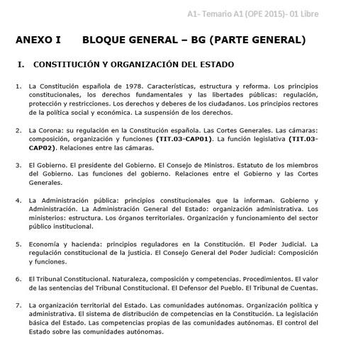 Temario A1 A2 C1 C2 Generalitat Bloq 01
