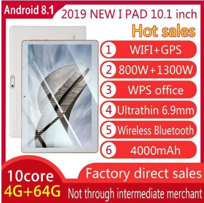 """TABLET 10, 1"""" PARA ANDROID 8, 1 TABLET PC - foto 2"""