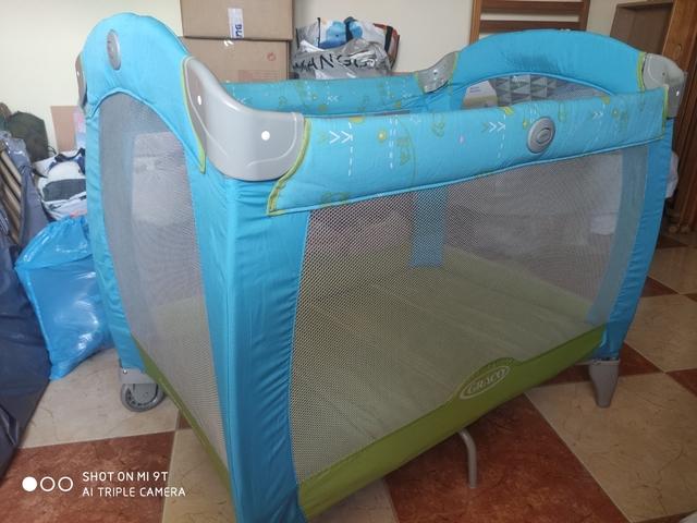 color azul Cuna de viaje 2 en 1 60 x 120 cm, 12 kg Lionelo LO-SVEN PLUS SKY BLUE Sven