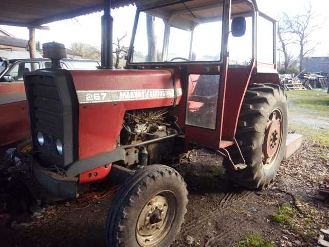 Fordson Dexta Tractor Silenciador De Plata